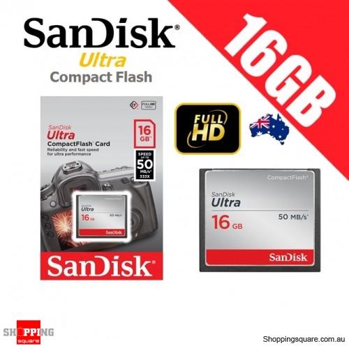 SanDisk Ultra Compact Flash 16GB Memory Card 50MB/s for DSLR Digital Camera