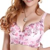 Womens Embroidered Push Up Bra 80 Pink Colour Size 10