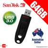 SanDisk Ultra 64GB USB 3.0 Flash Drive Memory Stick Pendrive Up to 100MB/s