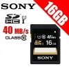 Sony 16GB SDHC Memory Card UHS-1 Class 10