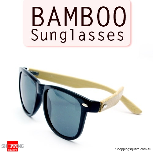 89a0082dc3 Stylish Bamboo Temple UV 400 Protection Sunglasses - Black + Bamboo -  Online Shopping   Shopping Square.COM.AU Online Bargain   Discount Shopping  Square