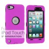 Case Cover For Heavy Duty iPod Touch 5 5th Silicon Skin With Purple Colour +Black Case