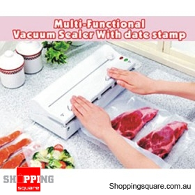 Food Vacuum Sealer - Cut, Vacuum & Seal
