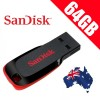 SanDisk Cruzer Blade 64GB CZ50 USB Flash Drive