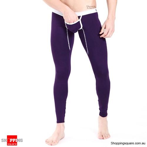 Men's Long Underwear Purple Colour Size 8