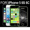 For iPhone 5 5S 5C Premium Real Tempered Glass Film Screen Protector