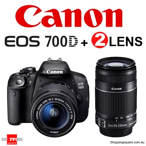canon eos 700d 18 55mm stm 55 250mm is double lens. Black Bedroom Furniture Sets. Home Design Ideas