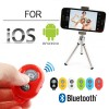 Bluetooth Remote Shutter For iOS Android iPhone Samsung Camera Mode Red Colour