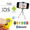 Bluetooth Remote Shutter For iOS Android iPhone Samsung Camera Mode Yellow Colour