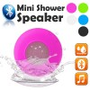 Waterproof Bluetooth Mini Shower Speaker Hands free Mic Speaker Pink Colour