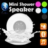 Waterproof Bluetooth Mini Shower Speaker Hands free Mic Speaker White Colour