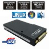 USB 2.0 To DVI HDMI VGA Multi Display Graphic Adapter Converter WIN MAC LINUX HD