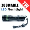 Super Bright 7W 900 Lumens CREE T6 LED Flashlight Torch Zoomable