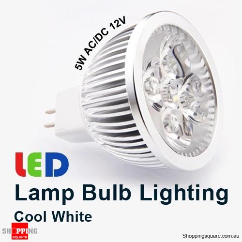Cool White (6500K) 5W 12V MR16 LED Downlight Bright Lamp Bulb Lighting