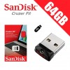 SanDisk 64GB Cruzer Fit CZ33 USB2.0 FLASH DRIVE