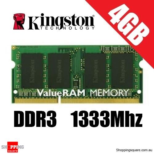 Kingston 4GB PC3-10600 1333Mhz DDR3 Sodimm Laptop Ram (KVR13S9S8/4)