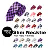 #20 Mens Necktie Tie Skinny Narrow Slim 5cm Plaid Patterns