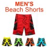 Men's Surf Beach Shorts Swimwear Red Colour Size 38