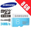 Samsung 8GB micro SDHC Card Class6 Up to 24MB/s