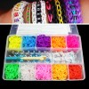 4500 x Rainbow Colourful Rubber Bands Bracelet DIY Kit Set with S-clips
