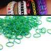 200 X Rainbow Loom Rubber Bands Refill Two Tones Green/Blue Colour