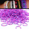 200 X Rainbow Loom Rubber Bands Refill Two Tones Purple/Pink Colour