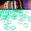 200 X Rainbow Loom Rubber Bands Refill Two Tones Blue/Light Green Colour