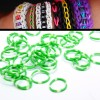 200 X Rainbow Loom Rubber Bands Refill Green/White Polka Dot Colour