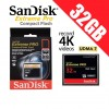 SANDISK EXTREME PRO CF 32GB 160MB/s Compact Flash Memory Card
