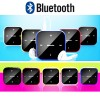 Fashionable Wireless Bluetooth Receiving Adapter with Clip for Headphone Speaker Blue Colour