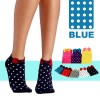 Women Cute Cotton Polka Dot with Bowtie Socks Blue Colour