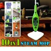10 IN 1 Multifunction 1500W Steam Mop Green Colour