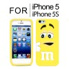 New Cute Soft Case Cover for iPhone 5S 5 Yellow Colour