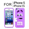New Cute Soft Case Cover for iPhone 5S 5 Purple Colour