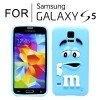 New Cute Soft Case Cover for Samsung Galaxy S5 i9600 Blue Colour