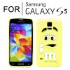 New Cute Soft Case Cover for Samsung Galaxy S5 i9600 Yellow Colour