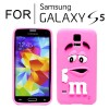 New Cute Soft Case Cover for Samsung Galaxy S5 i9600 Hot Pink Colour