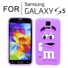New Cute Soft Case Cover for Samsung Galaxy S5 i9600 Purple Colour