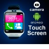 Touch Screen Android Smart Phone Wrist Watch With Camera Up to 32GB Black Colour