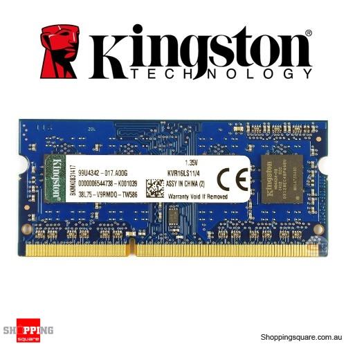Kingston 4GB DDR3 1600MHz CL11 SODIMM 1.35v