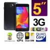 5 Inch Touch 3G Quad Core Dual Sim GPS Android 4.2 Smart Mobile Phone Unlocked Black