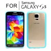 Hard Transparent Back Case Cover for Samsung Galaxy S5 i9600 Blue Colour