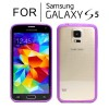Hard Transparent Back Case Cover for Samsung Galaxy S5 i9600 Purple Colour