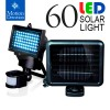 60 LED Ultra Bright Solar Light Motion Detection Sensor Black Colour
