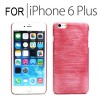 New Hard Brushed Back Case Cover for iPhone 6 Plus 5.5 inches Red Colour