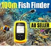 Portable LCD Fish Finder Sonar Sensor Depth Sounder Alarm 100M Transducer
