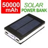50000mAh Solar Dual USB Port Power Bank Rechargeable Battery for iPad iPhone Samsung Galaxy