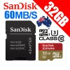 SanDisk Extreme 32GB Micro SDHC UHS-I U3 Memory Card Up to 60MB/s