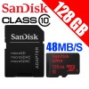 SanDisk 128GB micro SDXC Ultra memory card Class10 48MB/s