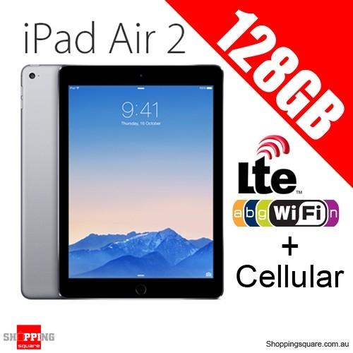 Apple iPad Air2 128GB 9.7inch Wifi+Cellular Tablet 4G LTE Grey